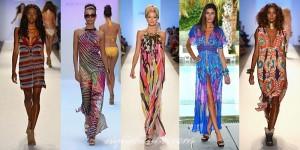 feminine printed dresses